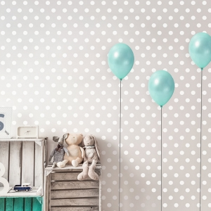 Children room decoration ideas. Washi tape origami paper plane, clouds and vintage boxes.