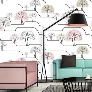 Modern chic fresh living room, modern green sofa