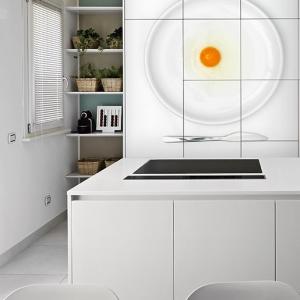 cucina moderna in lamianto bianco