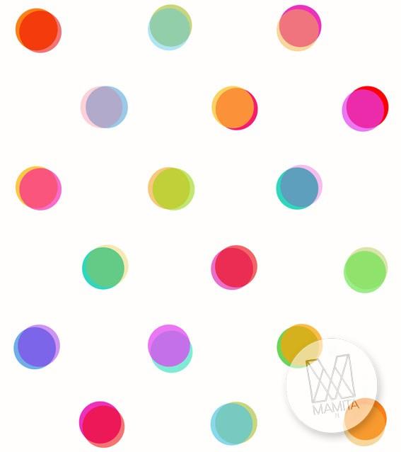 Fototapeta Young 12 - groszki kropki kolorowe