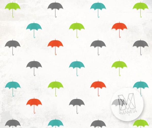 Fototapeta Young 13 - deszczowe parasolki