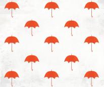 Fototapeta Young 15 - parasole, deszcz, parasolki