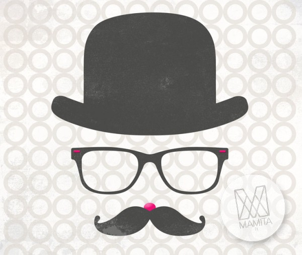 Fototapeta Young 23 - hipster, wąsy, mustache