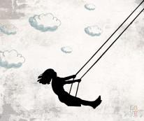Fototapeta Young 28 - huśtawka, kobieta, wiatr