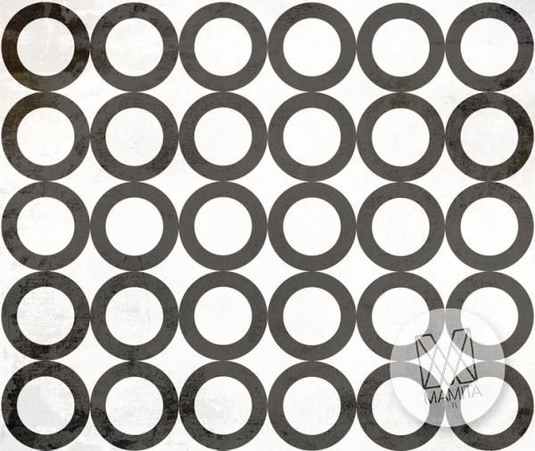 Fototapeta Young 30 - czarne okręgi, czarne koła