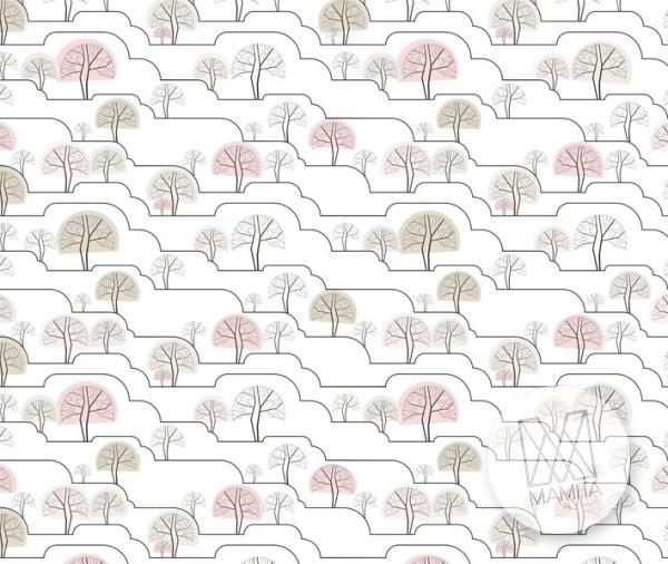 Fototapeta Young 33 - drzewa, drzewka, roślinność, pagórki, wzgórza