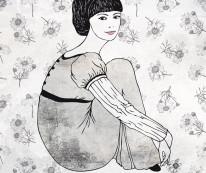 Fototapeta Young 58 - postać rysowana, szkic, na ścianie, komiks