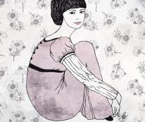 Fototapeta Young 64 - dziewczynka, postać, rysunek na ścianie
