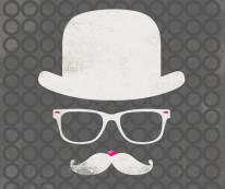 Fototapeta Young 65 - melonik, hipster, mustache