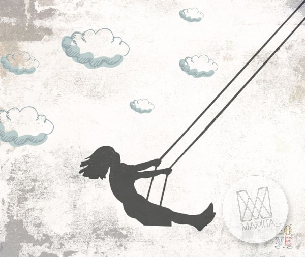 Fototapeta Young 7 - huśtawka, wiatr, chmurki, swoboda