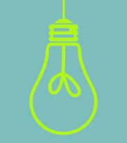 Fototapeta Young 77 - Żarówka na błękitnym tle , zielona , grafika , światło , oświetlenie