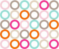 Fototapeta Young 8 - okręgi kolorowe, kółka