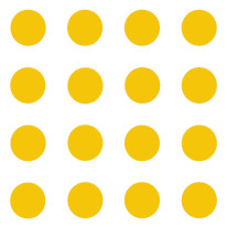 Fototapeta Young 99 - Żółte kropy na białym tle , Twister , Okręgi