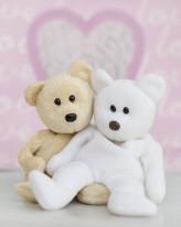 Fototapeta Junior 11 – misie kochankowie, białe różowe, przytulanki
