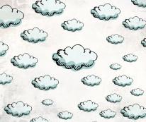 Fototapeta Junior 112 – szkicowane chmury, niebieskie niebo