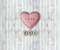 Fototapeta Junior 119 – serce love, deski, boazeria, panele