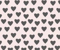 Fototapeta Junior 124 – serca czarne, różowe tło