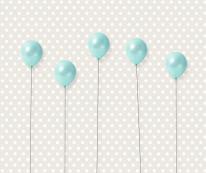 Fototapeta Junior 16 – baloniki turkusowe, niebieskie, balony