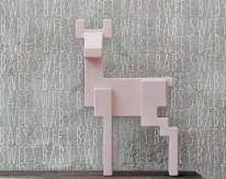 Fototapeta Junior 2 – różowy jelonek, napisy, betonowa ściana