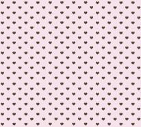 Fototapeta Junior 224 - czarne serca, różowe tło
