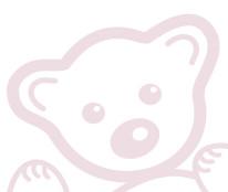 Fototapeta Junior 30 – różowy pluszak, misiek, misie, szkic, rysunek
