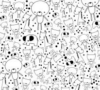 Fototapeta Junior 45 – ludziki, postacie, stworki, rysunki