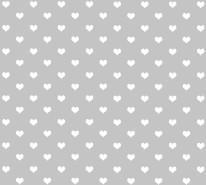 Fototapeta Junior 50 – serduszka, białe, szare