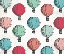 Fototapeta Junior 60 – balony, ilustracje, kolory,