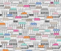 Fototapeta Junior 78 – kolorowe domki, szkice, kamieniczki