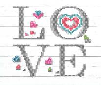 Fototapeta Junior 80 – love, miłość, białe deski, drewno