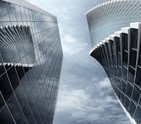 Fototapeta Salon 274 - wieżowce, miasto, new york, chmury