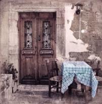 Fototapeta Salon 287 - prowansja, kafejka, stolik, włochy, południe