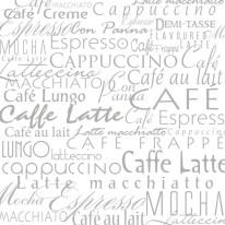 FOTOTAPETA NAPISY 3 – Szare napisy , kawa , caffe , late , kuchnia