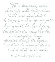 Fototapeta NAPISY 37 - Niebieskie cytaty , Paulo Coelho , Alchemik, teksty