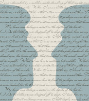 Fototapeta NAPISY 38 - Niebieskie głowy na szarym tle , cytaty , teksty , człowiek , twarze , face
