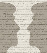 Fototapeta NAPISY 43 - Duże głowy , szarości , ciemne , teksty , napisy