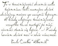 Fototapeta NAPISY 53 - Alchemik , Paulo Coelho, fragment , tekst , cytat