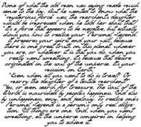 FOTOTAPETA NAPISY 7 – Cytaty , ręcznie pisane , pióro , atrament , książka , fragment