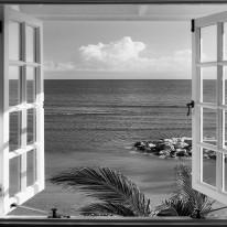 Fototapeta południowe klimaty 79 - okno, perspektywa, morze