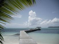 Fototapeta południowe klimaty 84 - plaża, pomost, tropiki, perspektywa