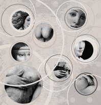 Fototapeta Salon 10 - Madonny , Malarstwo , Miskacja , Twarze , Da Vinci , Sepia