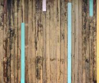 Fototapeta  Salon 14 - Deski , Miks , Stare drewno , Kolorowe wstawki , Błękit
