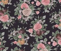 Fototapeta Salon 29 - Kwiaty , Róże , Malowane , Pastelowe , Chusta