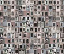 Fototapeta Salon 38 - okna, mozaika, kamienice, stare południowe miasto, protugalia