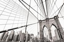 Fototapeta Salon 40 - most brukliński sepia, manhattan, nowy york