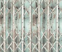 Fototapeta Salon 49 - krata ażurowa, stara, metal