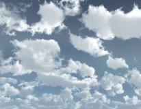 Fototapeta Salon 62 - Niebo , Chmurki , Niebieskie , Błękity , Ostre