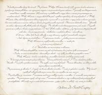 Fototapeta Salon 68 - Tekst odręczny , stary papier , fragment , list