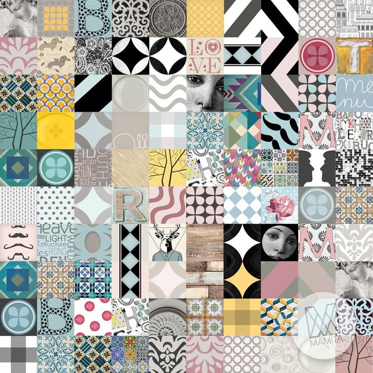 Fototapeta salon 10 patchwork miskacja kolory hipster for Salon patchwork