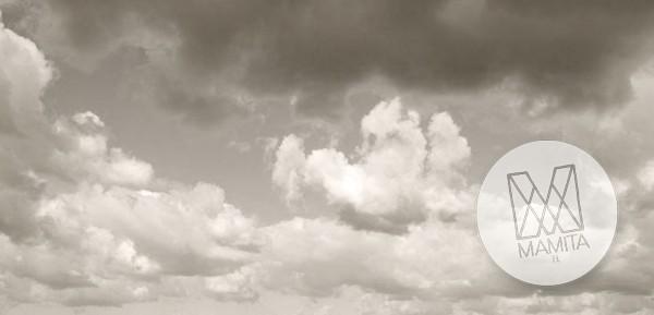 Fototapeta Salon 94 - chmury, burzowe niebo, cz b , szarości